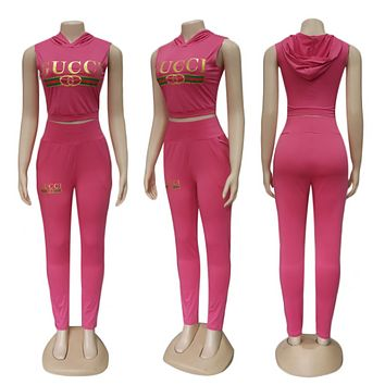 GUCCI Women Sleeveless Top Trousers Set Two-Piece