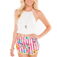 Just Love Pom Pom Shorts - White
