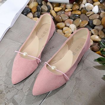 3a43eeef11dc Flat shoes women flock dress slip-on pointed toe loafers shoes 2