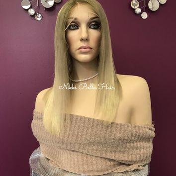 Ash Blond Full Lace Wig - Alessandra