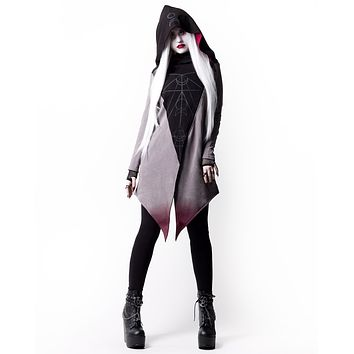 Witchy Moon Witchcraft Spells oversized Hood asymmetrical Hoodie Jacket - Moon Ritual