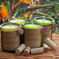 Candles made out of recycled wine bottles-Valentine's Day Sale