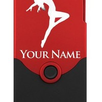 Personalized Case/Cover for iPhone 4/4S - DANCING WOMAN - Laser Engraved for Free