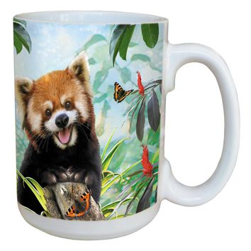 Red Panda Selfie Mug - Large 15 oz Ceramic Coffee Mug