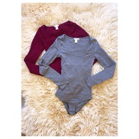 Long Sleeve Cotton Bodysuit