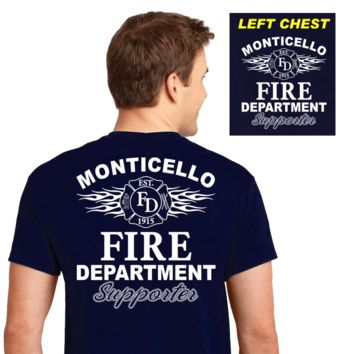 Fire Department Supporter Shirts (DD-FDS3) Navy