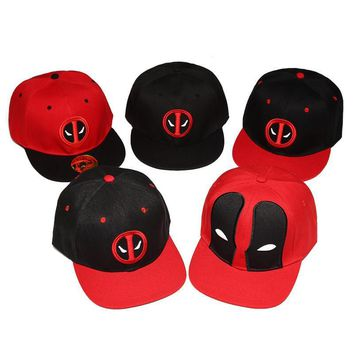 Trendy Winter Jacket 2017 Fashion Comic Marvel Deadpool Hat Snapback Bone Aba Reta Costumes Cotton Baseball For Men Women Sports Hip Hop Cap KG08 AT_92_12