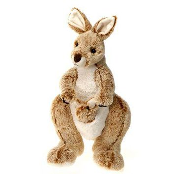 "14"" Stuffed Kangaroo Plush Animal Australian Safari Collection"