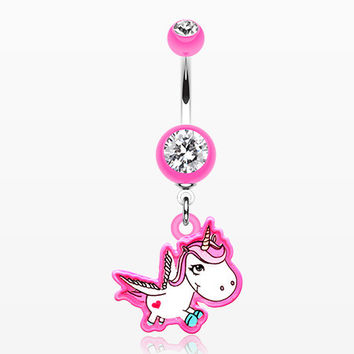 Lovely Unicorn Belly Button Ring