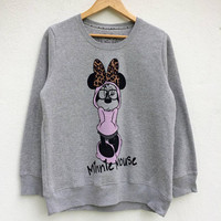 On Sale Minnie Mouse Sweatshirt /Mickey Mouse T Shirt /Mickey Mouse Sweatshirt / Walt Disney / Animated / Cartoon