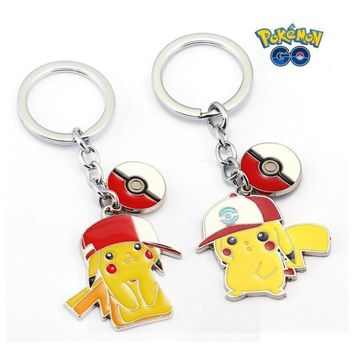ORP Anime game theme products  Go Keychain logo hat Pikachu key chain Pendant fine accessories Kawaii Pokemon go  AT_89_9