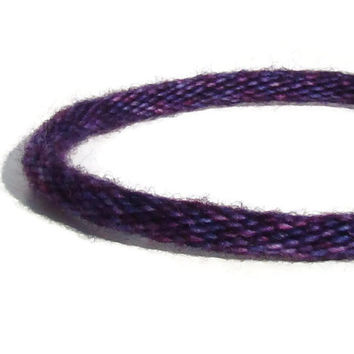 NEW Cozy Collection-- limited edition purple and blue variegated kumihimo bracelet with stainless steel clasp