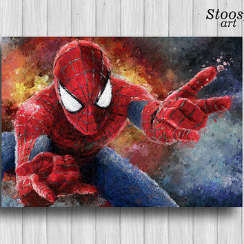 Spiderman poster marvel painting superhero prints