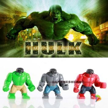 Anime Super Hero PVC Action Figureling Toy 7.5cm The Red Hulk Figures Toys Character Children Christmas Gift Brinquedos