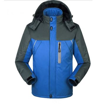 Outwear Waterproof Coats Men Jacket Windproof Thermal Hooded Coat Winter Jacket Men Wind Parka