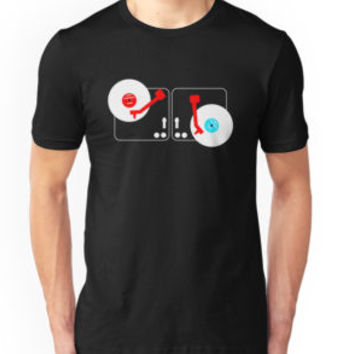 'Twisted Turntables' Classic T-Shirt by Dwiner