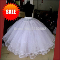 Best Sale White 3 Layers Wedding Accessories Petticoats For Wedding Dress Tulle Underskirt Ball Gown Petticoat Skirt Stock CH-10391 (Color: White) = 1932289284