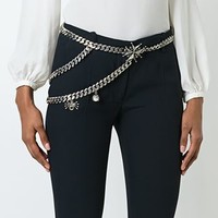 Alexander Mcqueen Cross Medallion Chain Belt - Luisa World - Farfetch.com