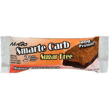 Nugo Nutrition Smarte Carb Bar - Peanut Butter Crunch - Case of 12 - 1.76 oz