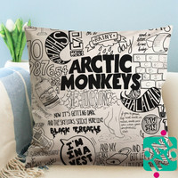 Artic Monkeys Art Collage Zippered Pillow Case, Cushion Case, Pillow case
