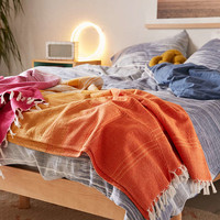 Pieced Stripe Throw Blanket - Urban Outfitters