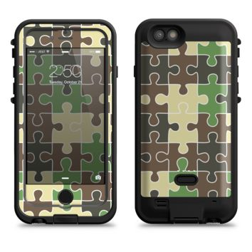 The Camouflage Colored Puzzle Pattern  iPhone 6/6s Plus LifeProof Fre POWER Case Skin Kit