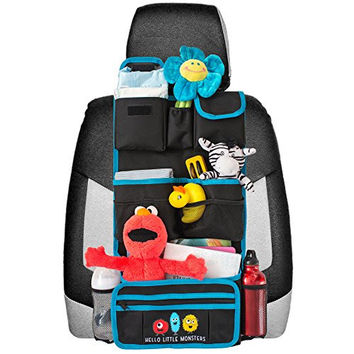 Backseat Car Organizer | Kids Toy Car Storage | Travel Accessories for Baby | Child Car Seat Protector | Great as Baby Shower Gift | Detachable Wallet - Multiple Pockets - Universal Fit