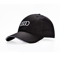 New Fashion Embroidery Audi Letter Racing Baseball Cap Gorras Men Women Casual Cotton Snapback Hat Black Cap Adjustable