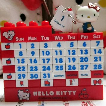 Cartoon Pink Hot Pink Hello Kitty Doraemon Bear Whole Year Sliding Puzzle Separated Calendar Puzzle New Yeat Gift Toy