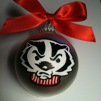 Hand Painted Sports Glass Ornament You Choose Any Team School Professional College Team