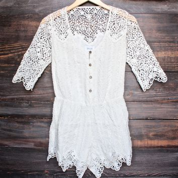 grace romper in cream by SAYLOR