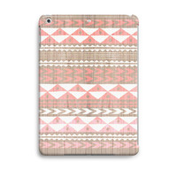 Coral Aztec on Wood Pattern  iPad Case Air, iPad Mini Case