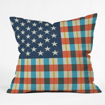 Nick Nelson Plaid Flag Outdoor Throw Pillow
