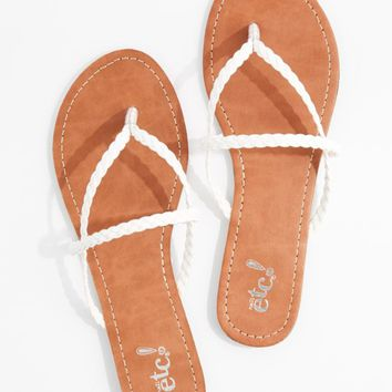 White Braided Cross-Strap Flip Flop | Flip Flops | rue21