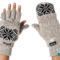 Alki'i 3M Thinsulate Thermal Insulation Fingerless Texting Gloves with Mitten Cover - 2 colors