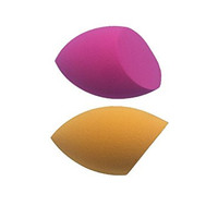 Beauty Flawless 2 Piece Makeup Blender Sponge Set Latex Free Makeup Sponge For Powder, Cream or Liquid Application