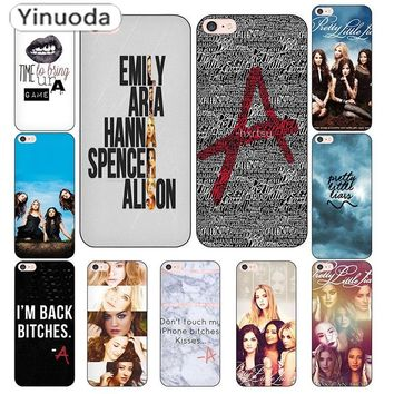 Yinuoda Pretty Little Liars Lucy Hale Black Soft TPU Coque Shell Phone Case for Apple iPhone 8 7 6 6S Plus X 5 5S SE Cover