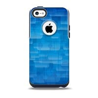 The Vivid Blue Techno Lines Skin for the iPhone 5c OtterBox Commuter Case