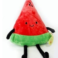 20'' Slice Watermelon Figure Plush Pillow Kawaii&Cute Toy Doll X-mas Birth Gift