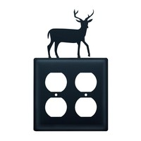 Deer - Double Outlet Cover