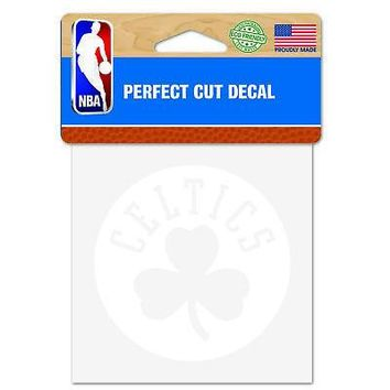 """Licensed Boston Celtics Official NBA 4"""" x Automotive Car Decal 4x4 by Wincraft 549204 KO_19_1"""