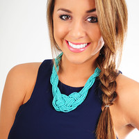 Don't You Worry Necklace: Turquoise