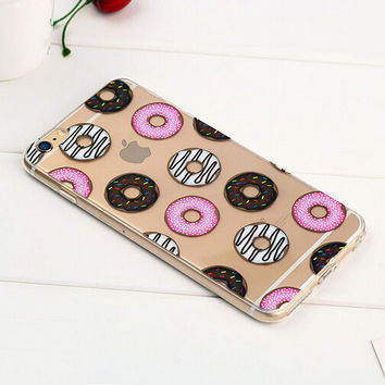 Doughnut Case TPU Cover for iphone 7 7 Plus & iphone 6 6s Plus & iphone se 5s + Gift Box