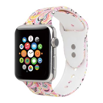 Floraler Sport Band for Apple Watch 42mm 38mm Series 3/2/1,S/M/L Size(21 Design)
