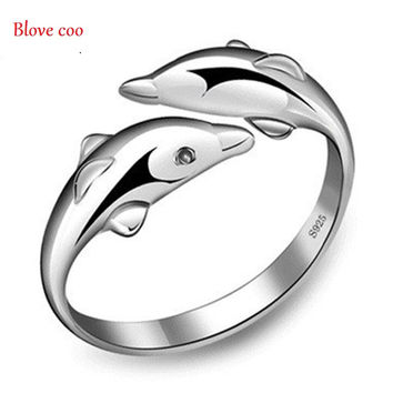 Rings for Women new Fashion Fine Jewelry 2017 Happiness Dolphin rings