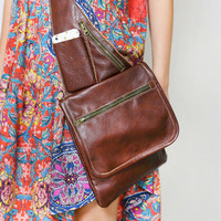 Charlie Leather Satchel