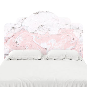 Pink Marble Headboard Decal