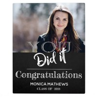 Chalkboard | Graduation | Photo Plaque With Easel