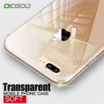 OICGOO Transparent Soft TPU Silicone Case For iPhone 8 Case 8 Plus Ultra Thin Clear Back Full Cover For iphone 8 8 plus Case