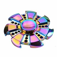 Colorful Rainbow Heptagonal Hand Fidget Spinner